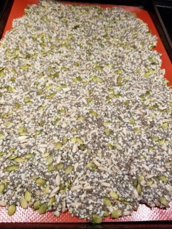 Spread mixture across baking sheet