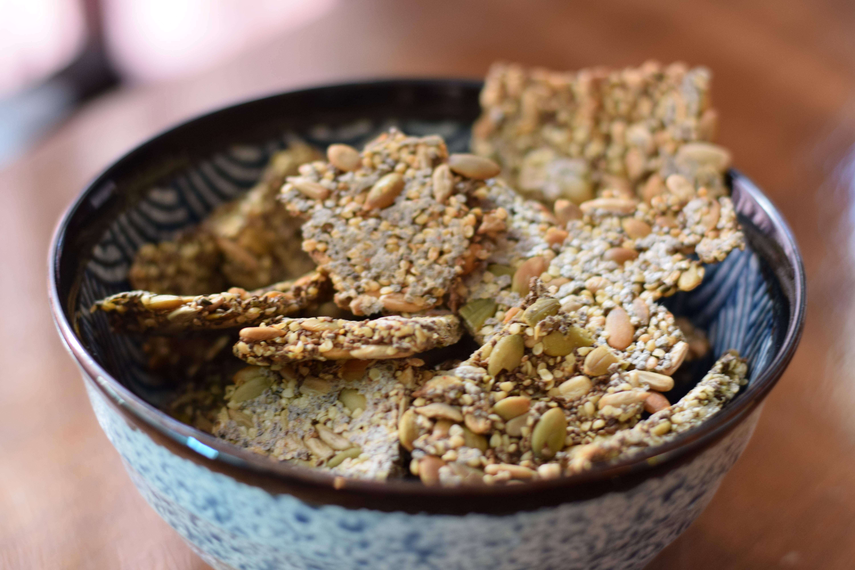 Vegan Gluten-Free Seed Crackers